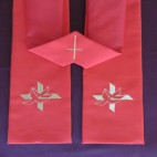 Cross with Two Doves Budget Clergy Stole