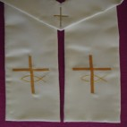 Cross with Fish Symbol Budget Clergy Stole