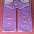 Simple Line Cross Budget Clergy Stole