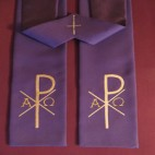 Pax with Alpha and Omega Budget Clergy Stole