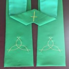 Fish Trinity Budget Clergy Stole