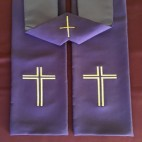 Bold Line Cross Budget Clergy Stole