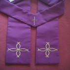 Four Fish Cross Budget Clergy Stole