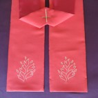 Flames Clergy Stole