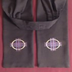 Woven Cross and Circle Preaching Scarf