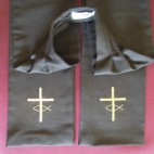 Cross with Fish Symbol Preaching Scarf