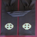 Celtic Cross and Knots Preaching Scarf