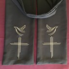 Cross and Dove Preaching Scarf
