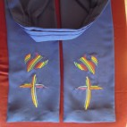 Rainbow Cross and Dove Preaching Scarf