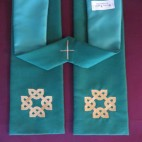 Celtic Knot Square Cross Clergy Stole