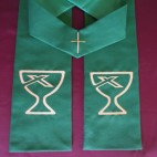 Chalice and Cross Clergy Stole