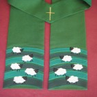 Flock of Sheep Clergy Stole