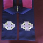 Pastel Celtic Cross Clergy Stole