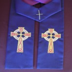 Traditional Celtic Cross with Knot Detailing Clergy Stole