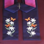 Lilies and Butterflies Clergy Stole