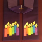 Rainbow Candles Clergy Stole