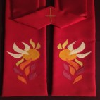 Dove and Flames Clergy Stole