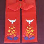 Fire and Dove Clergy Stole