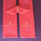 Ribbons of Heat Cross Clergy Stole
