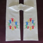 Cross and Figures Clergy Stole