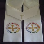 Cross with Ring of Fishes Clergy Stole