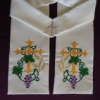 Traditional Cross with Vine and Wheat Clergy Stole
