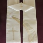 Dove with Rainbow and Cross Clergy Stole