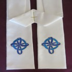 Woven Ribbon Cross Clergy Stole