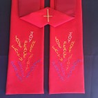 Flames of Worship Clergy Stole