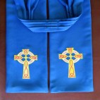 Traditional Celtic Cross Preaching Scarf