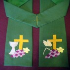 Bread and Wine Clergy Stole
