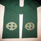 Celtic Cross and Knots Clergy Stole