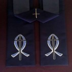 Fish and Cross Clergy Stole