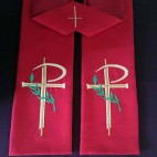 Cross and Palm Clergy Stole