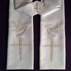 Cross and Dove Clergy Stole