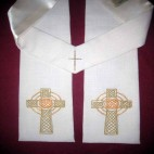 Gold Celtic Knot Cross Clergy Stole