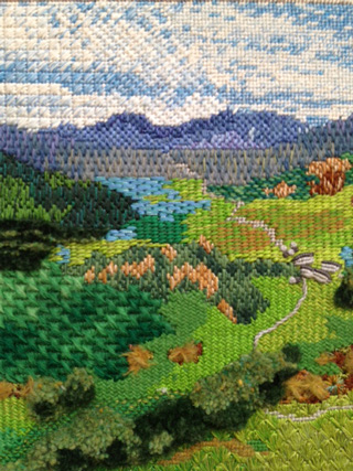Capel Curig and the Snowdon Horseshoe Embroidry