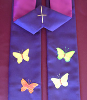 Purple Clergy Stoles